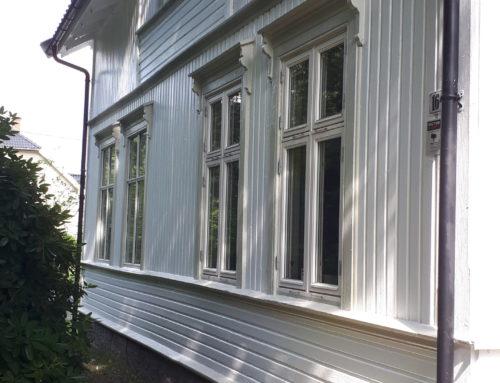 Maling av hus Kjølnes, Porsgrunn
